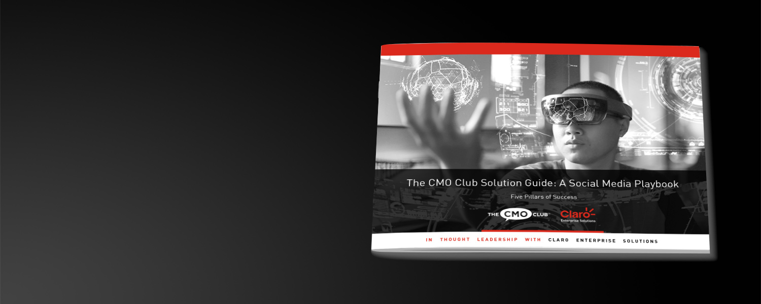 The cover to the social media playbook by Claro Enterprise Solutions.